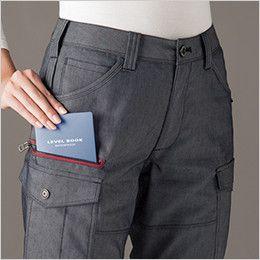 バートル 7049 [春夏用]ストレッチドビーレディースカーゴパンツ(女性用) 長財布レベルブック収納ポケット