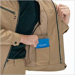 バートル 7081 [秋冬用]制電ストレッチツイルジャケット(JIS T8118適合)(男女兼用) 内ポケット