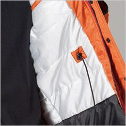 バートル 7211 サーモトロン防寒コート(大型フード付)(男女兼用) コードスピンドル付(全天候型保温素材)