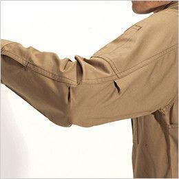 バートル 8093 [春夏用]綿100%ライトチノ長袖シャツ(男女兼用) アームタック