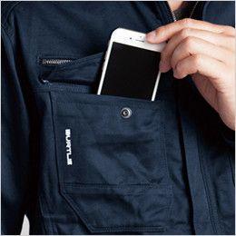バートル 8101 綿100%ワーカーズツイル長袖ジャケット(男女兼用) Phone収納ポケット