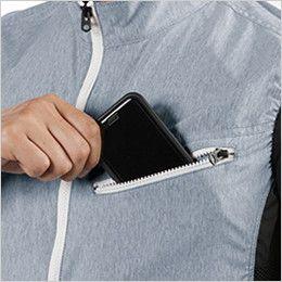 バートル AC1024 エアークラフト[空調服]迷彩ベスト(男女兼用) ポリ100% Phone収納ポケット