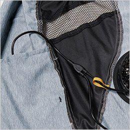 バートル AC1024 エアークラフト[空調服]迷彩ベスト(男女兼用) ポリ100% 右・外側ポケットにつながるコードホール