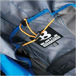 AC1091 バートル エアークラフト[空調服] パーカージャケット(男女兼用) 衣服内の空気循環をよくするために風の流れ道を調節します