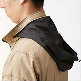 AC1111PSET-K バートル エアークラフト[空調服]迷彩 長袖ジャケット(男女兼用) ポリ100% 収納式フード(スピンドル付き)(全色ブラック)