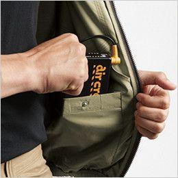 AC1121SET-K バートル エアークラフト[空調服]ハーネス対応 長袖ブルゾン(男女兼用) ポリ100% バッテリー収納ポケット(ドットボタン止め)
