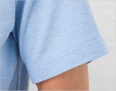 ドライCVCボタンダウンポロシャツ(ポケ付)(5.3オンス)(男女兼用) 袖部分