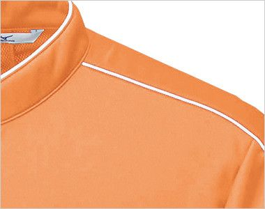 MZ-0170 ミズノ(mizuno) ニットシャツ(男女兼用) パイピングがデザインを引き締める