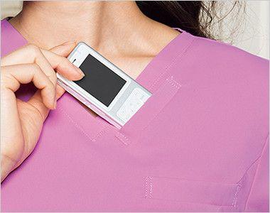 HI700 ワコール スクラブ レディース(女性用) 持ち運ぶ機会が多いPHSの収納ポケット付き。 重みを分散する独自の設計で肩こりを防ぎ、長時間持ち運ぶ際の悩みも解消。