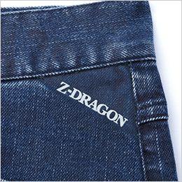 自重堂Z-DRAGON 71602 ストレッチデニムノータックカーゴパンツ ロゴプリント
