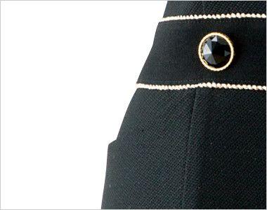 en joie(アンジョア) 61650 シルエットが美しくゴールドがアクセントのワンピース(女性用) 無地×ラメ ポケット付きで小物収納OK
