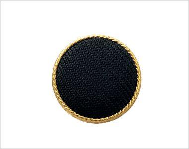 en joie(アンジョア) 81520 上品かわいいベージュ×黒の配色の好印象ジャケット 無地 黒ベースにまわりをゴールドであしらったボタン