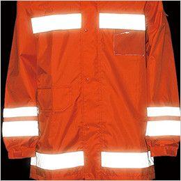 3810 カジメイク 視認性レインスーツ(男女兼用) 360度、どの角度からも視認性を確保