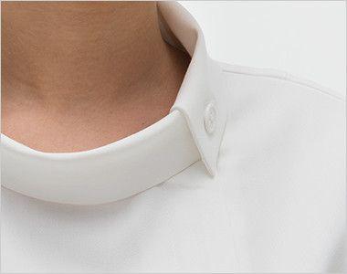 FE4522 ナガイレーベン(nagaileben) フェルネ チュニック(女性用) ボタンを留めて首回りをすっきり見せる襟元