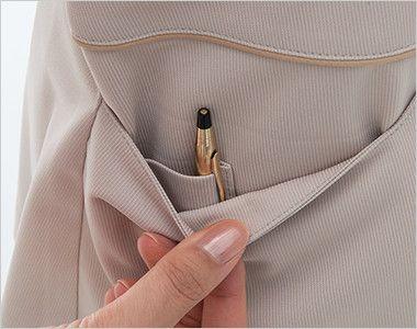 LH6277 ナガイレーベン(nagaileben) ビーズベリー 半袖ワンピース(女性用) 収納力が豊富な多機能ポケット