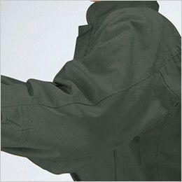 9800 桑和 綿100%開襟ツナギ ひじ当て布