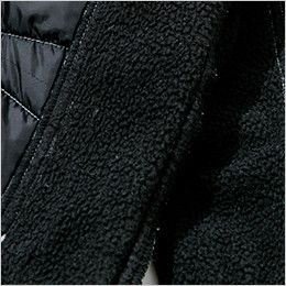 5234 TS DESIGN メンズニッカーズ中綿キルティングカーゴパンツ(男女兼用) 内股裏側のフリース仕様