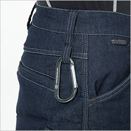 5234 TS DESIGN メンズニッカーズ中綿キルティングカーゴパンツ(男女兼用) ダブルループ・コインポケット刺繍