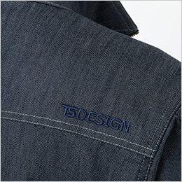 5316 TS DESIGN TS レイヤードツイル 長袖ジャケット(男女兼用) ロゴ刺繍