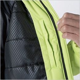 6626 TS DESIGN 防風ストレッチ ライトウォームジャケット(男女兼用) 内ポケット+裏地TSデザインオリジナルエンボスプリント