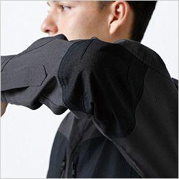 84605 TS DESIGN ハイブリッドストレッチシャツ(男女兼用) 肘補強