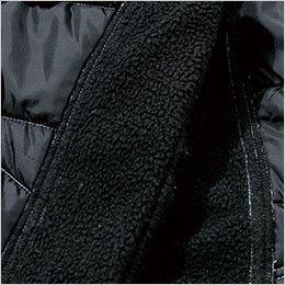 846244 TS DESIGN [秋冬用]防寒・ストレッチ中綿キルティングカーゴパンツ(男女兼用) 裏側フリース部分