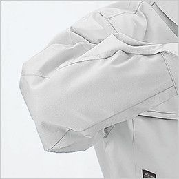 ジーベック 1260 プリーツロンミニハイブリッド長袖ブルゾン 縫い目が肘に当たらない特殊カッティング