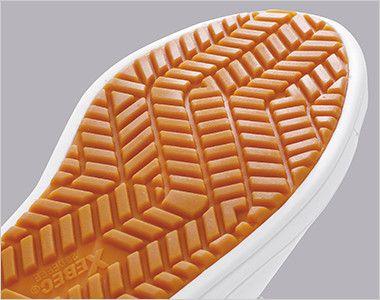 ジーベック 85663 厨房シューズ 水場でも滑りにくくグリップのきくラバーソール意匠です。