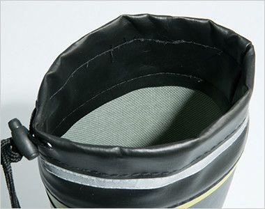 ジーベック 85718 セフティ長靴 スチール先芯 ライニング材には吸汗ドライ生地を使用し、ムレを軽減