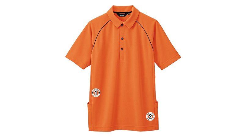 AZ7663 アイトス ペップ バックサイドポケット付 半袖ポロシャツ(男女兼用) 商品詳細・こだわりPOINT