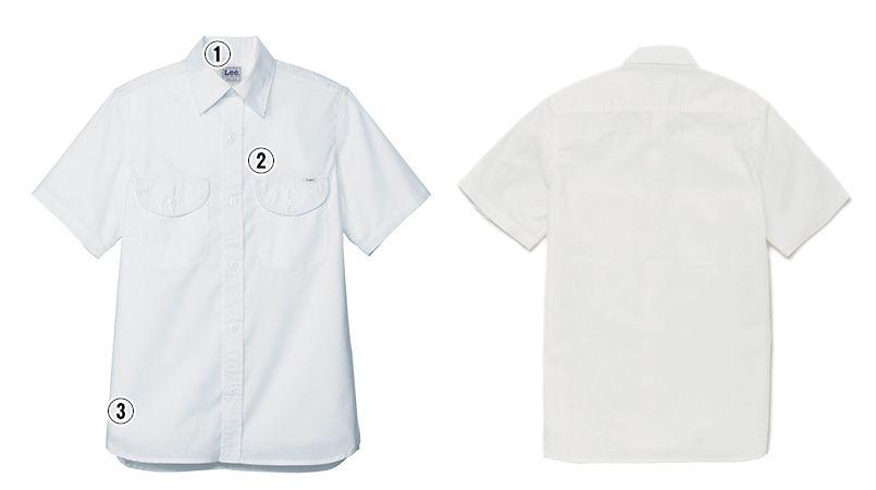 LCS46005 Lee シャンブレーシャツ/半袖(男性用) 商品詳細・こだわりPOINT