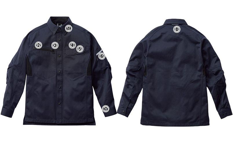 RS4902 ROCKY 長袖シャツ(男女兼用) バーバリー 商品詳細・こだわりPOINT
