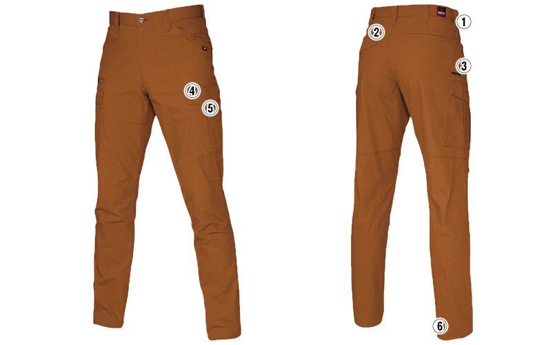 バートル 5512 [春夏用]綿100%リップクロスカーゴパンツ(男女兼用)裾上げNG 商品詳細・こだわりPOINT