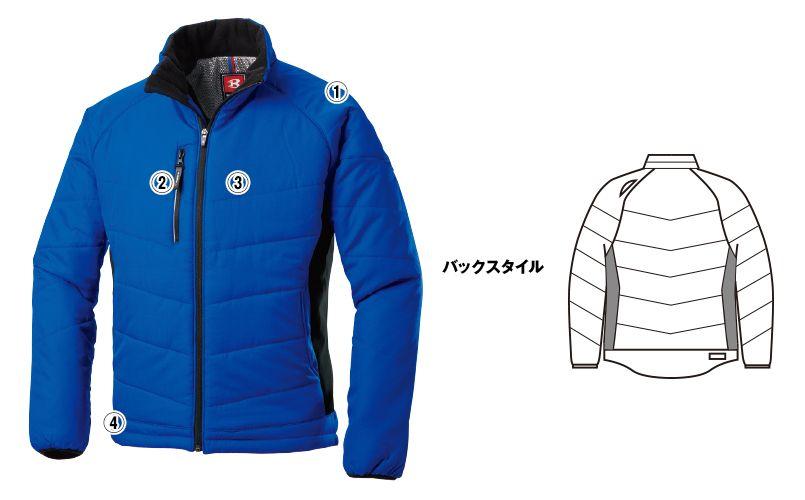 バートル 7310 背面マイクロフリース防寒ジャケット(男女兼用) 商品詳細・こだわりPOINT