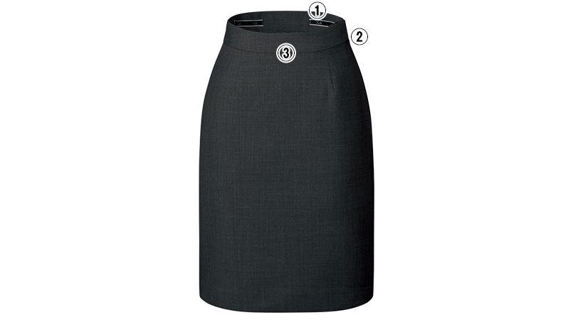 FS45812 nuovo(ヌーヴォ) バックアップウエストタイトスカート 無地 商品詳細・こだわりPOINT