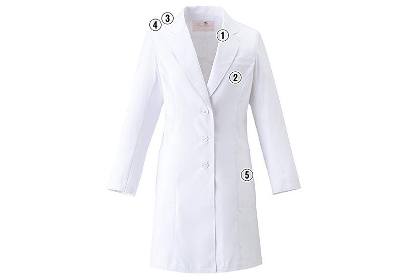 HI401 ワコール レディースドクターコート シングル(女性用) 商品詳細・こだわりPOINT