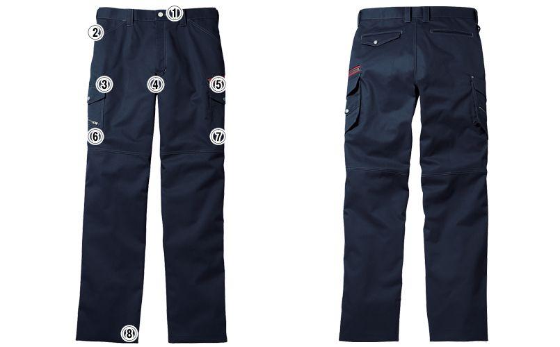自重堂 52102 [秋冬用]JAWIN ノータックカーゴパンツ(新庄モデル) 裾上げNG 商品詳細・こだわりPOINT