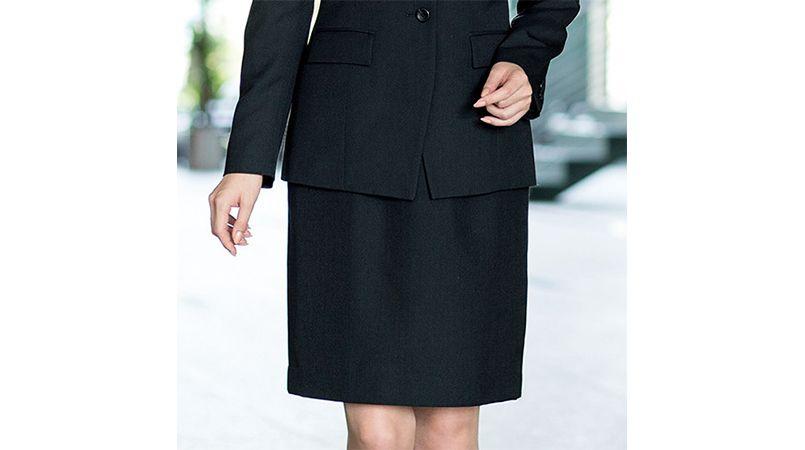 en joie(アンジョア) 51050 控えめなモノトーンがシックな雰囲気でウール混のスカート 無地 商品詳細・こだわりPOINT
