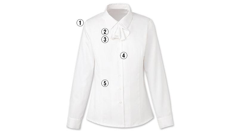 EWB434 enjoy オールシーズン気持ちいい!体温調節機能で快適な長袖ブラウス 商品詳細・こだわりPOINT