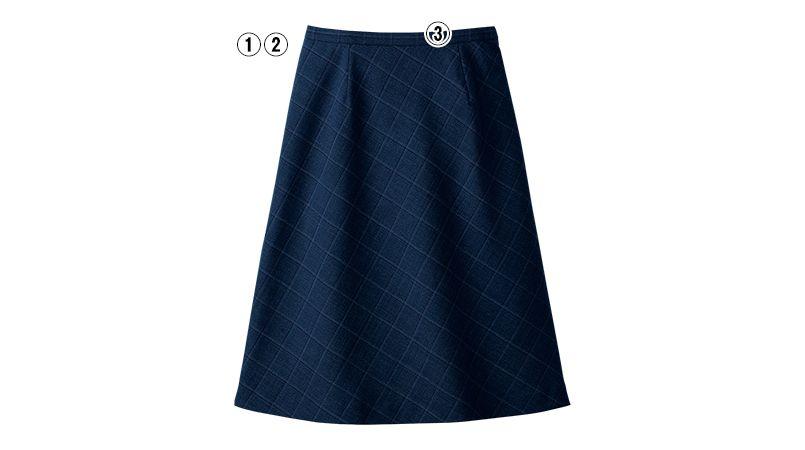 S-16541 16549 [秋冬用]パトリックコックス Aラインスカート ブラインドチェック 商品詳細・こだわりPOINT