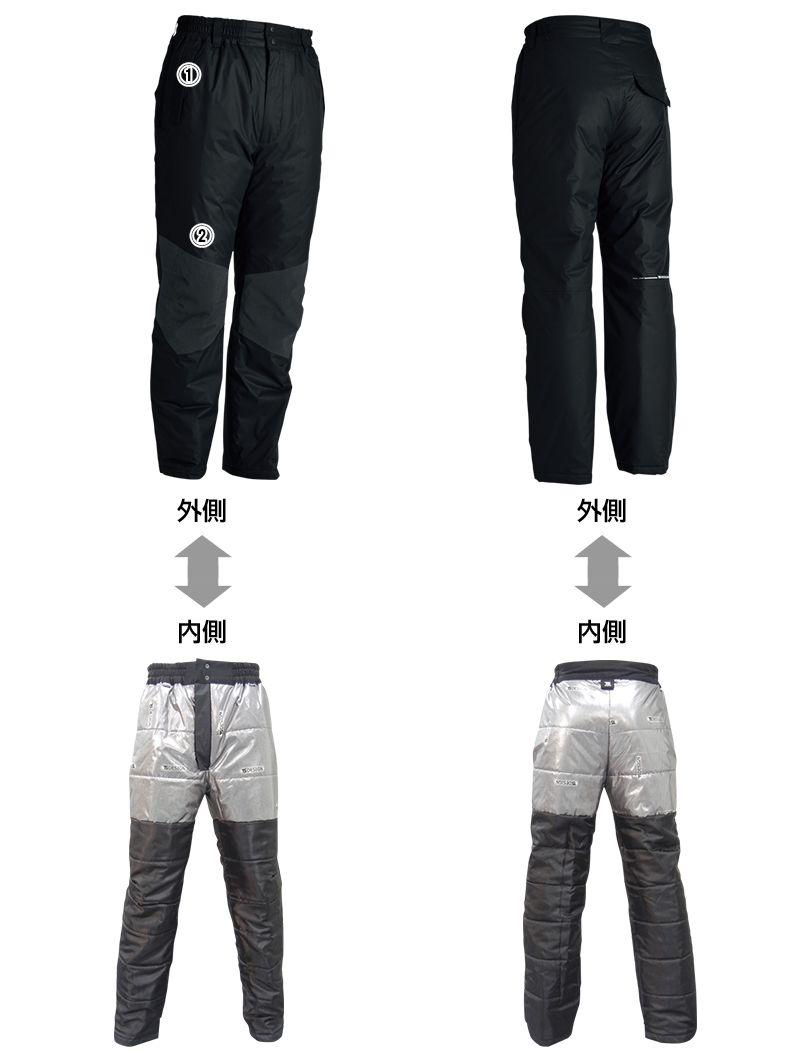 18222 TS DESIGN メガヒート 防水防寒パンツ(男女兼用) 商品詳細・こだわりPOINT