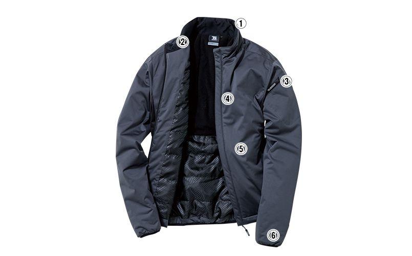 6626 TS DESIGN 防風ストレッチ ライトウォームジャケット(男女兼用) 商品詳細・こだわりPOINT