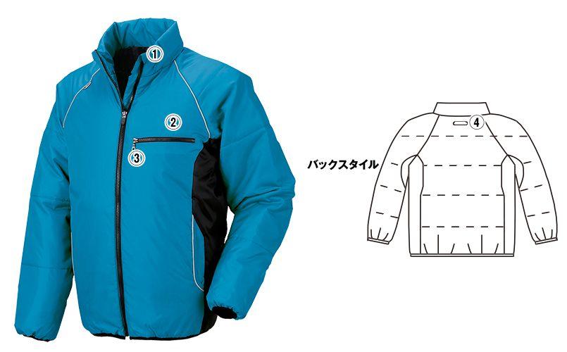 ジーベック 202 スポーティ軽量防寒ブルゾン(男女兼用) 商品詳細・こだわりPOINT