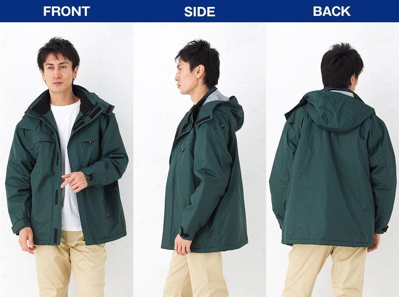 2806 桑和 防水防寒コート モデル前後(メンズ)