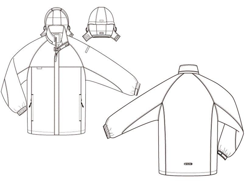 AZ50109 アイトス タルテックス 防寒ジャケット ハンガーイラスト・線画