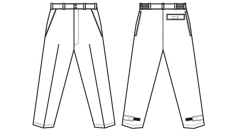 AZ8462 アイトス エコノミー防寒パンツ ハンガーイラスト・線画