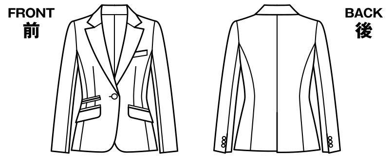 BONMAX AJ0224 アウトラストI [通年]ジャケット(1つボタン) ストライプ ハンガーイラスト・線画