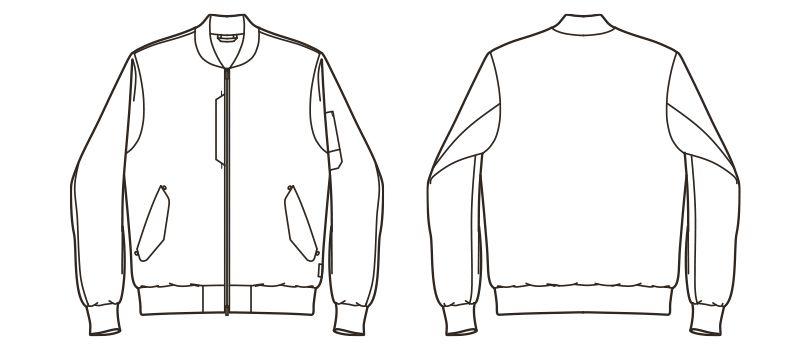 RJ0901 ROCKY ミリタリージャケット(男女兼用) ハンガーイラスト・線画