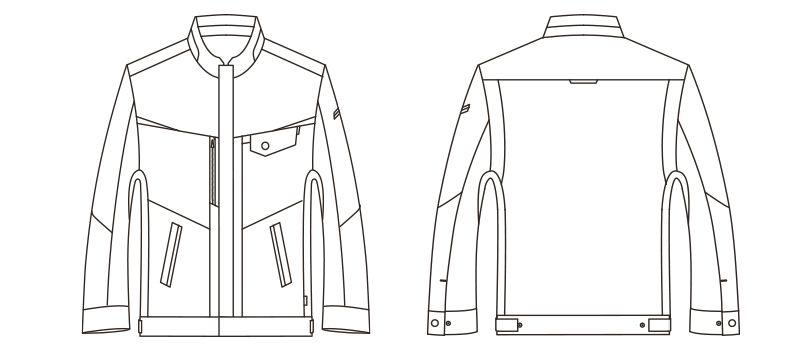RJ0909 ROCKY ブルゾン(男女兼用) ツイル ハンガーイラスト・線画