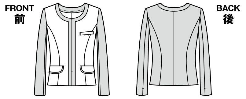 AR4858 アルファピア ニットジャケット ハンガーイラスト・線画